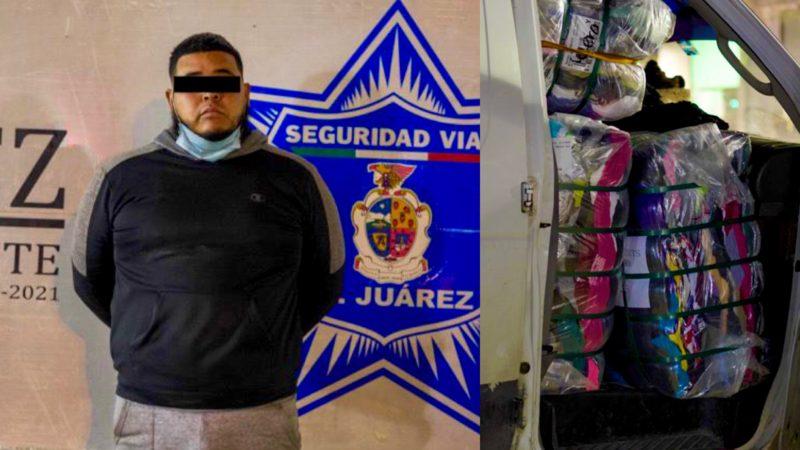 Detenido con pacas de ropa