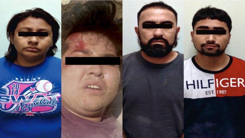 Presuntos secuestradores de Juárez